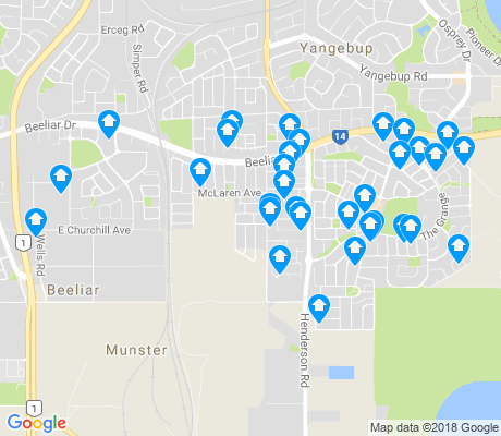 map of Beeliar apartments for rent