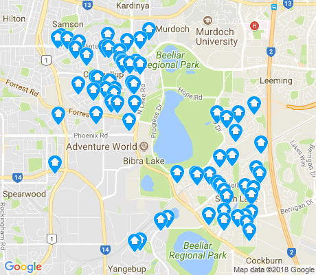 map of Bibra Lake apartments for rent