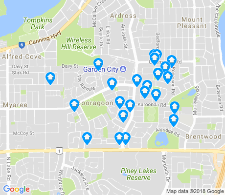 map of Booragoon apartments for rent