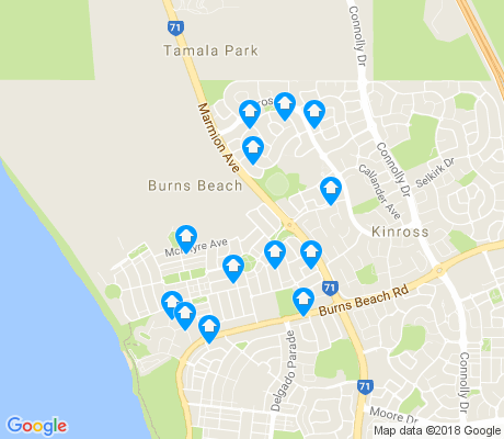 map of Burns Beach apartments for rent