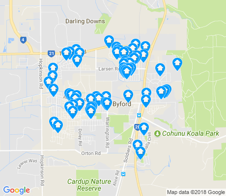 map of Byford apartments for rent