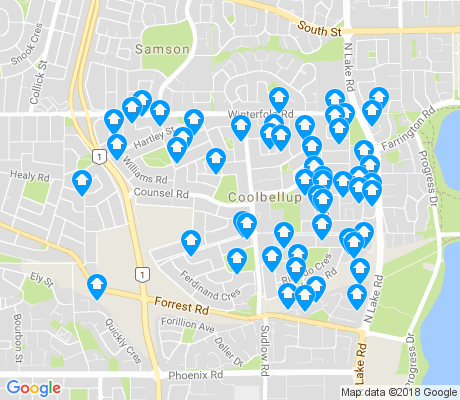 map of Coolbellup apartments for rent