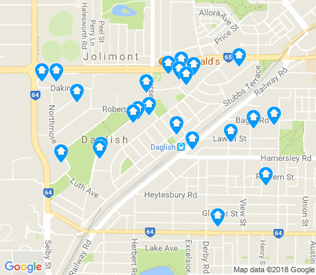 map of Daglish apartments for rent