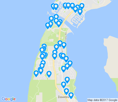 map of Dawesville apartments for rent