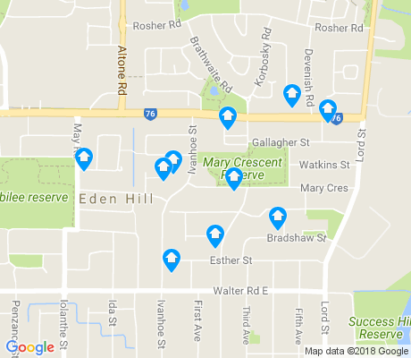 map of Eden Hill apartments for rent