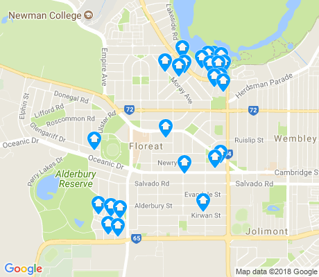 map of Floreat apartments for rent