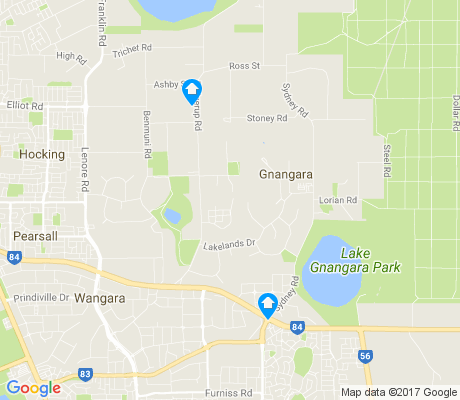 map of Gnangara apartments for rent