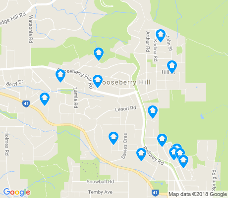 map of Gooseberry Hill apartments for rent