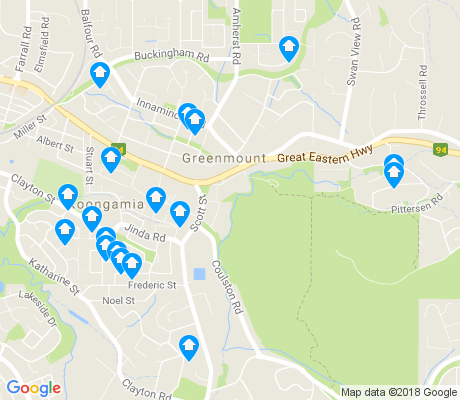 map of Greenmount apartments for rent