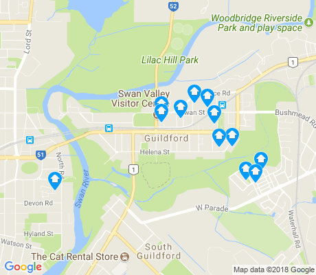 map of Guildford apartments for rent