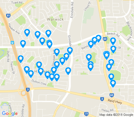 map of Hamersley apartments for rent