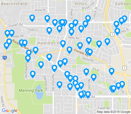 map of Hamilton Hill apartments for rent