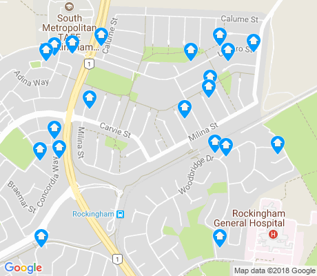 map of Hillman apartments for rent