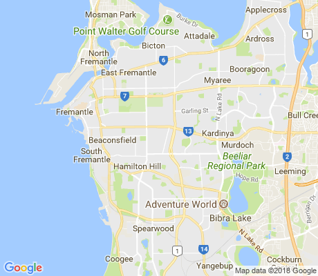 map of Hilton apartments for rent