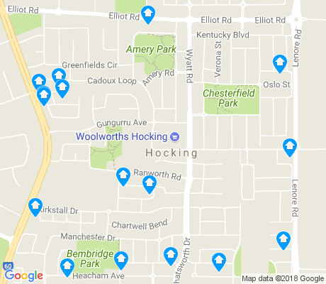 map of Hocking apartments for rent