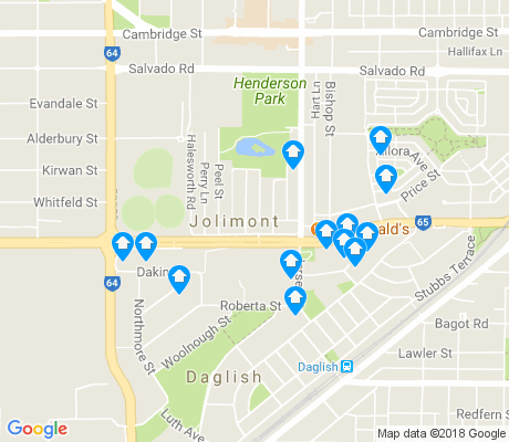 map of Jolimont apartments for rent