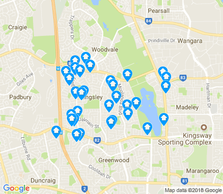 map of Kingsley apartments for rent