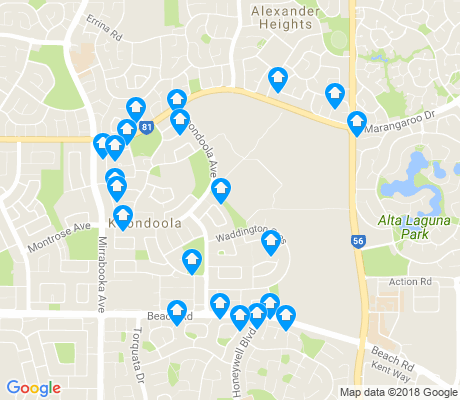 map of Koondoola apartments for rent