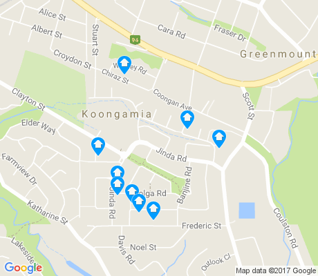 map of Koongamia apartments for rent