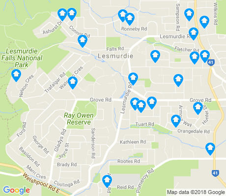 map of Lesmurdie apartments for rent