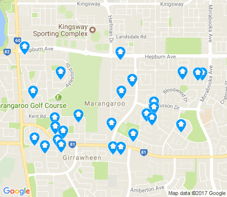 map of Marangaroo apartments for rent