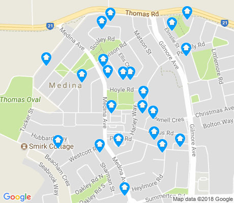 map of Medina apartments for rent