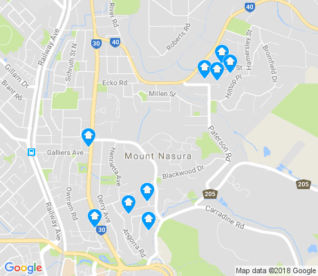 map of Mount Nasura apartments for rent