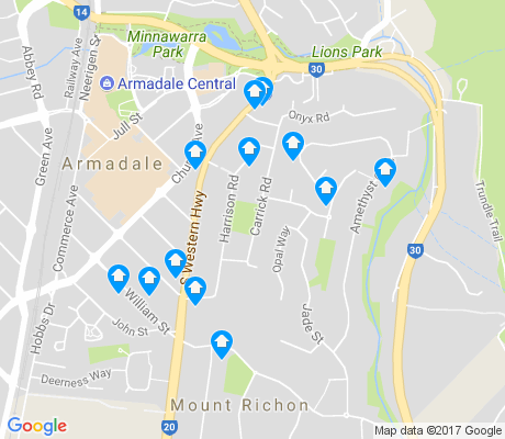 map of Mount Richon apartments for rent