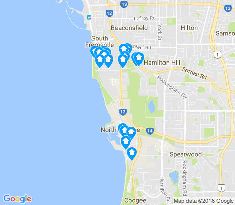 map of North Coogee apartments for rent