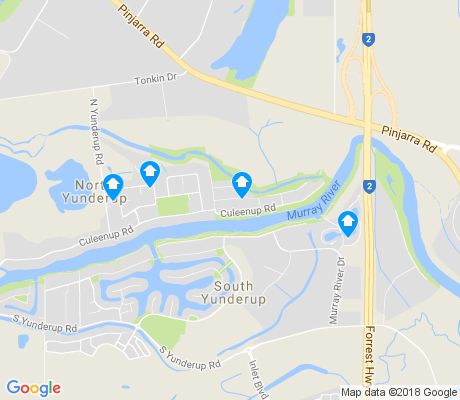 map of North Yunderup apartments for rent