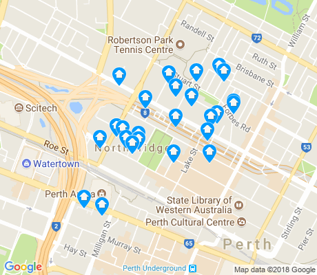 map of Northbridge apartments for rent