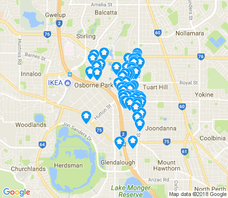 map of Osborne Park apartments for rent