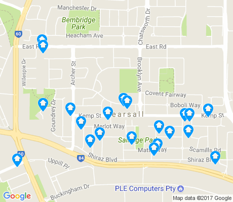 map of Pearsall apartments for rent