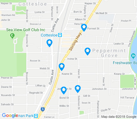 map of Peppermint Grove apartments for rent