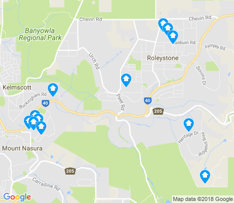 map of Roleystone apartments for rent