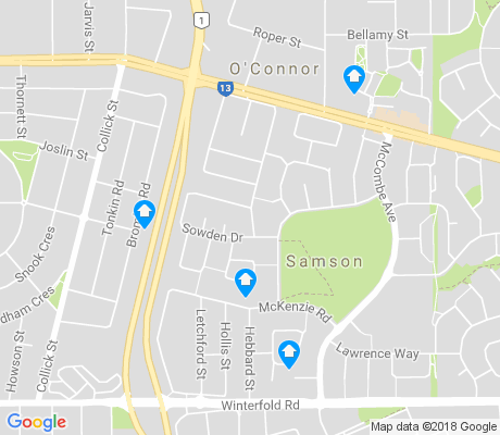 map of Samson apartments for rent