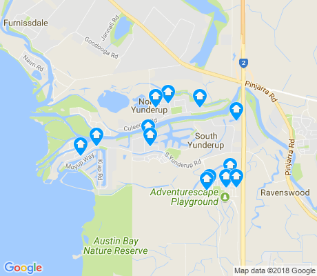 map of South Yunderup apartments for rent