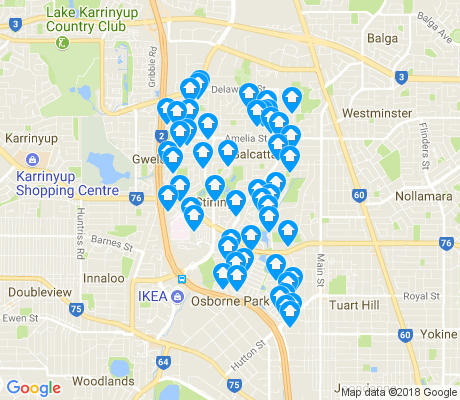 map of Stirling apartments for rent