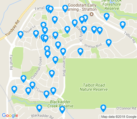map of Stratton apartments for rent