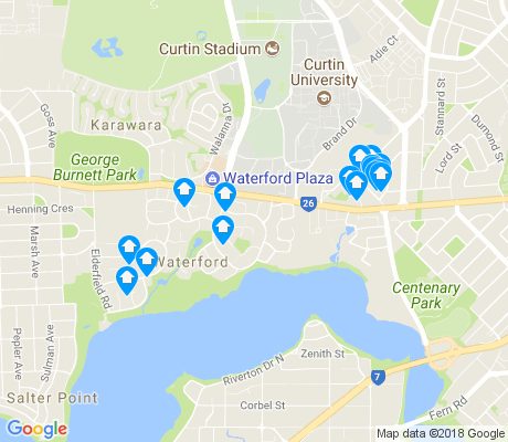 map of Waterford apartments for rent