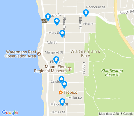map of Watermans Bay apartments for rent