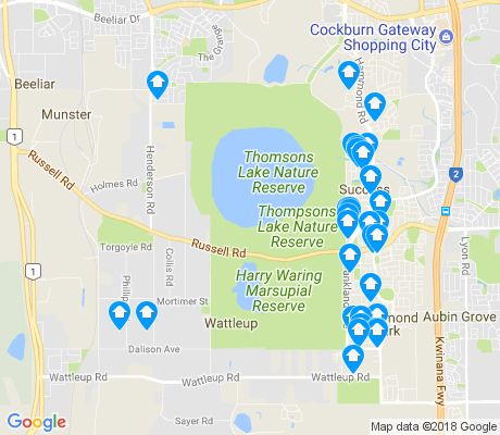 map of Wattleup apartments for rent