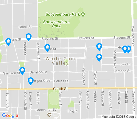 map of White Gum Valley apartments for rent