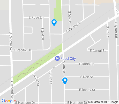 map of Old Avondale apartments for rent