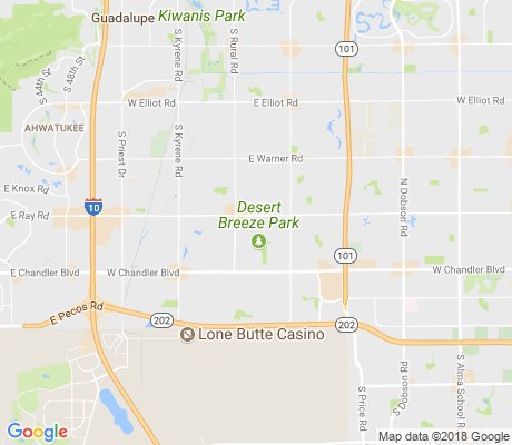 map of Dawn apartments for rent