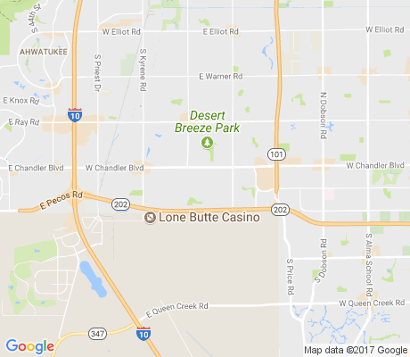 map of Glenview Estates apartments for rent