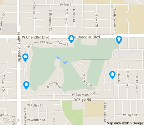 map of San Marcos Country Club apartments for rent
