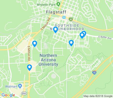 Map Of North Arizona.Northern Arizona University Flagstaff Apartments For Rent And