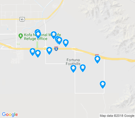 map of Fortuna Foothills apartments for rent