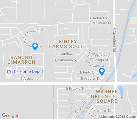 map of Finley Farms apartments for rent
